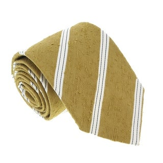Missoni U4221 Mustard/Cream Regimental 100% Silk Tie - 60-3
