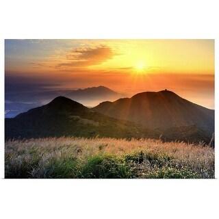 """Sunset, sea cloud"" Poster Print"