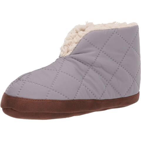 Dearfoams Women's Original Nylon Warm Up Bootie Slipper