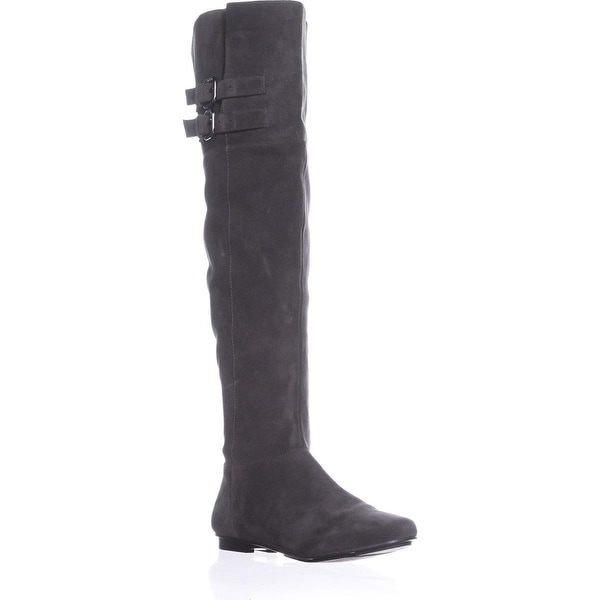 Calvin Klein Michelle Over The Knee Boots, Graphite - 9 us / 39 eu
