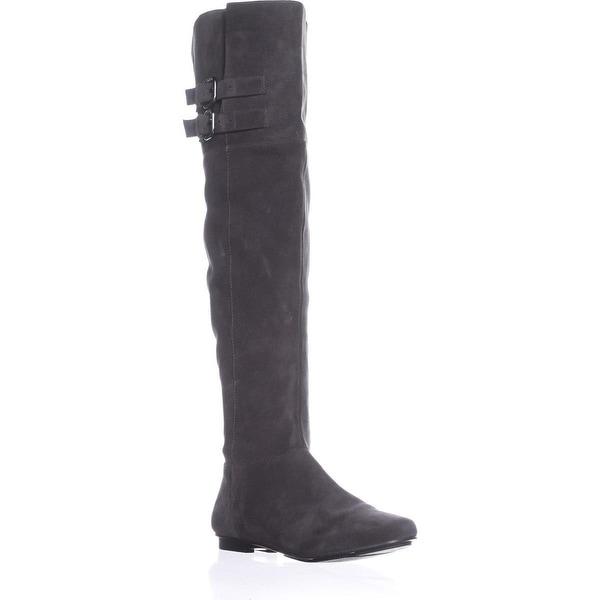 Calvin Klein Michelle Over The Knee Boots, Graphite - 9 us / 39 eu