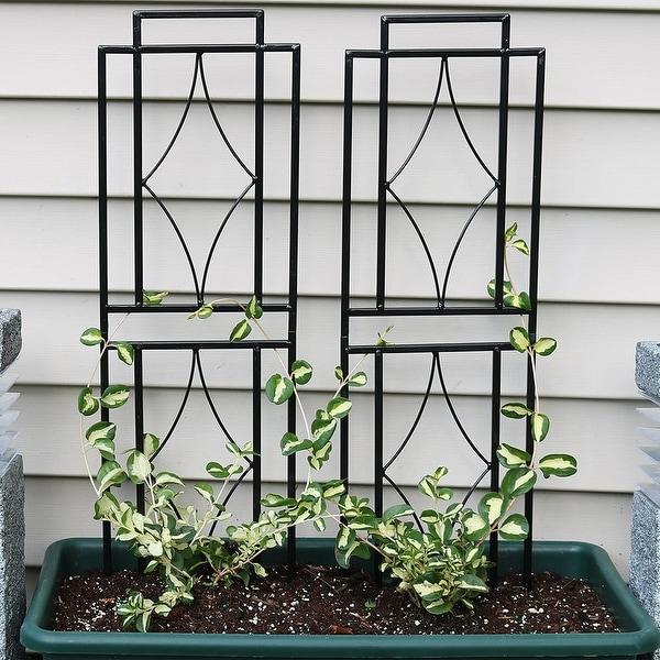 Sunnydaze 30 Inch Contemporary Garden Trellis Set of 2