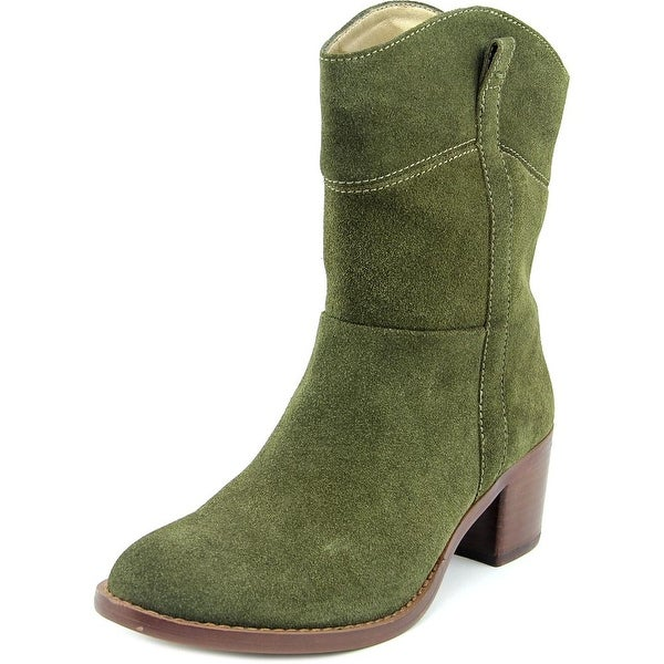 Adrienne Vittadini Fonzie Round Toe Suede Ankle Boot