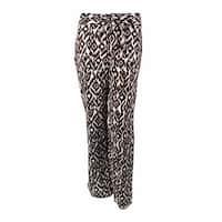 INC International Concepts Women's Ikat Print Linen Pants - diamond vine - 4