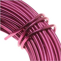 Aluminum Craft Wire Fuchsia Pink 12 Gauge 39 Feet (11.8 Meters)
