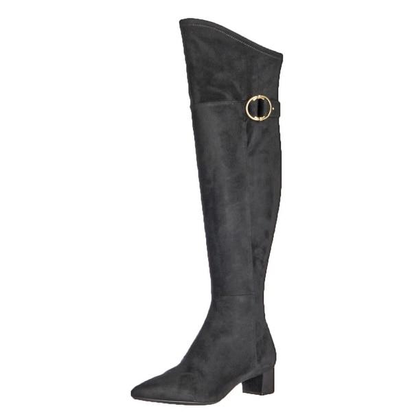 Calvin Klein Womens Georgeanna Over-The-Knee Boots Microsuede Block Heel
