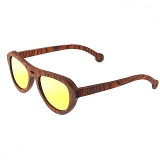 Spectrum Stroud Unisex Wood Sunglasses - 100% UVA/UVB Prorection - Polarized/Mirrored/Gradient Lens - Multi