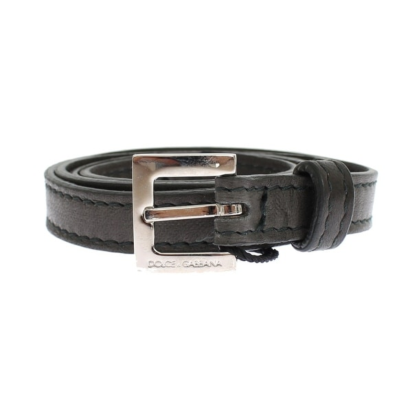 Dolce & Gabbana Gray leather belt