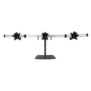 """Siig Full-Motion Aluminum Adjustable Triple Monitor Stand - 13"""" To 27"""" And 17.6 Lbs Each, Vesa 75 And 100 Compatible"""