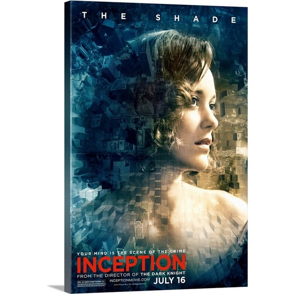 Shop Black Friday Deals On Inception Movie Poster Canvas Wall Art Overstock 24133310