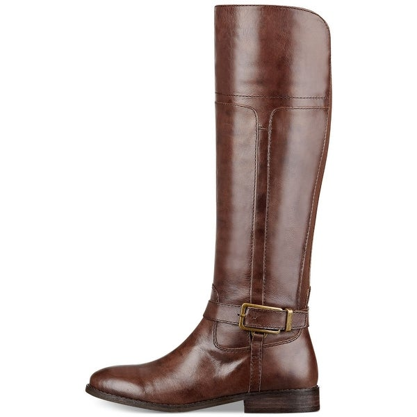 Marc Fisher Women's Aysha Wide Calf Leather Riding Boot