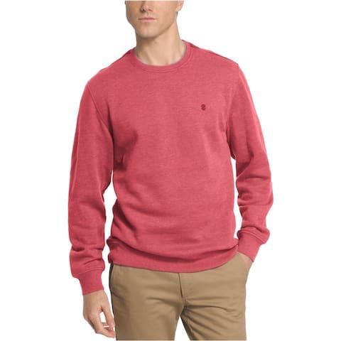 IZOD Mens Fleece Crew Sweatshirt, Red, Small