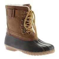 Portland Boot Company Women's Duck Duck Boot Mid Buckle Cognac