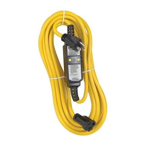 Leviton 3809530 Residential Commercial & Light Industrial Thermoplastic Gfci Straight Blade Plug Yellow & Black