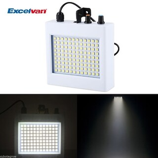 Auto Sound 12W 108 SMD LEDs Strobe Flash Stage Light DJ Bar Club Party Lighting - White