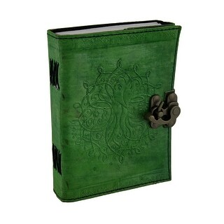 Green Tree of Life Embossed Leather Bound Journal 5x7 in.