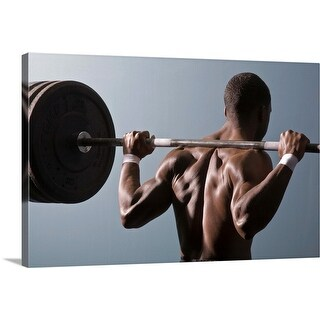 """""""Man working out the gym"""" Canvas Wall Art"""