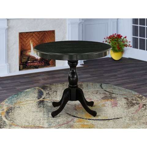 Round small dining table with pesdestal base with many color option