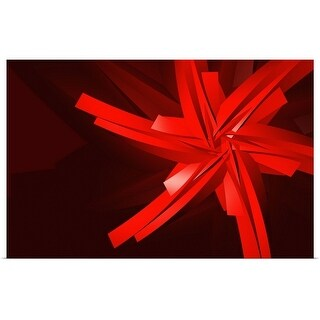 """""""a red abstract shape"""" Poster Print"""