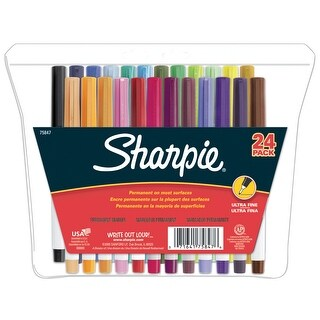 Sharpie Non-Toxic Waterproof Permanent Marker, Ultra Fine Tip, Assorted Color, Pack of 24