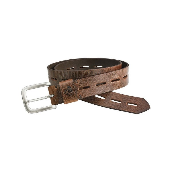 Legendary Whitetails Men's Redwood Vintage Leather Belt