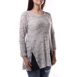 ALFANI $120 Womens New 1322 Black, White Striped Crew Neck Sweater S B+B
