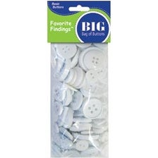White 4Oz - Favorite Findings Big Bag Of Buttons