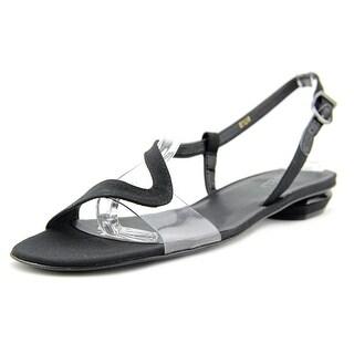 Vaneli Berta Women Open Toe Synthetic Black Sandals
