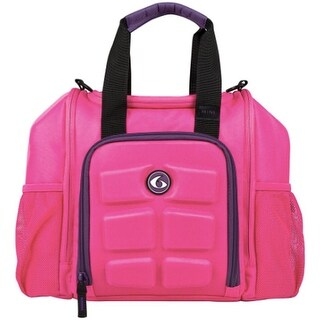 6 Pack Fitness Expert Innovator Mini Meal Management Bag - Pink/Purple