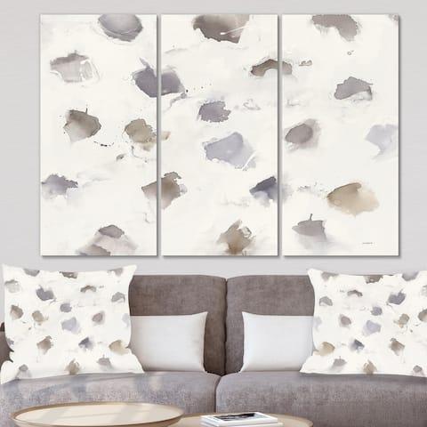 Designart 'Brown Nougat' Geometric Canvas Wall Art