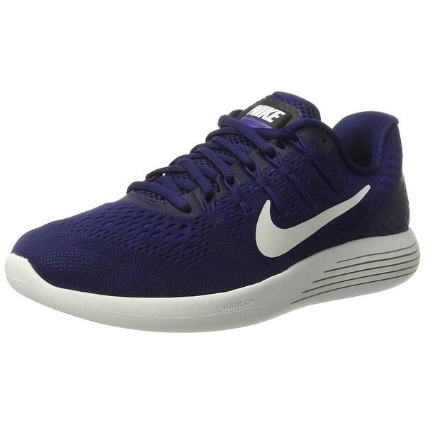 d3004312e095 Nike Men Lunarglide 8 Running Shoe Binary Blue Summit White Black Size 10.5  M
