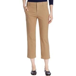 Vince Womens Chino Khaki Pants Classic Fit Cropped