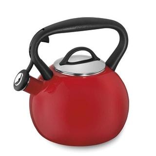 Cuisinart CTK-EOSTRR Valor Porcelain Enamel on Steel Tea Kettle, Red, 2-Quart