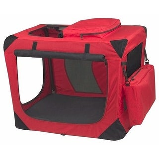 Generation Ii Deluxe Portable Soft Crate Small Red