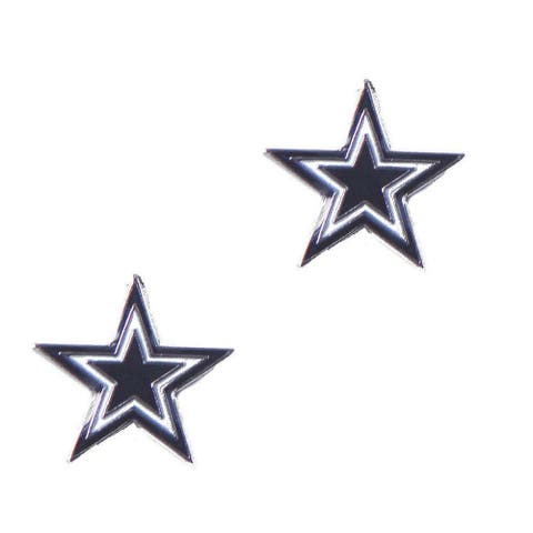 Dallas Cowboys Post Stud Logo Earring Set Charm Gift NFL - 5/8 inch to 3/4 inch