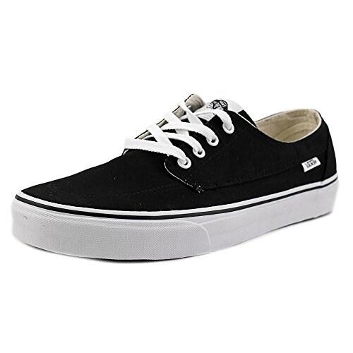 Vans - Unisex-Adult Brigata Shoes, Size: 13 D(M) US Mens, Color: Black/White