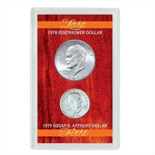 Last Eisenhower Dollar & First Susan B. Anthony Dollar