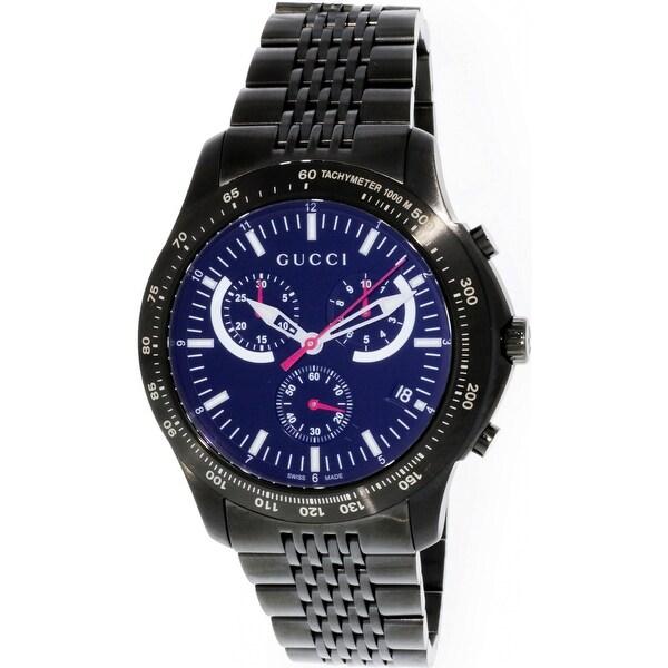 cca5e6df15b Gucci Men  x27 s G-Timeless Black Stainless-Steel Swiss Quartz Fashion
