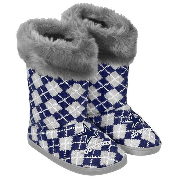 the best attitude 9e97b 02512 Dallas Cowboys Women's Argyle Fur Boots, Large