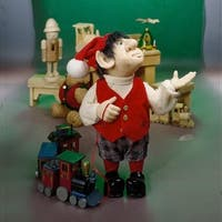 """10"""" Zims The Elves Themselves Moochie Collectible Christmas Elf Figure - RED"""