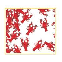 Pack of 6 Metallic Red Crawfish  Mardi Gras Celebration Confetti Bags 0.5 oz.