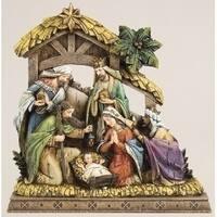 "10"" Joseph's Studio Wood-Like Carved Religious Christmas Nativity Decorations - multi"