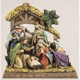 "10"" Joseph's Studio Wood-Like Carved Religious Christmas Nativity Decorations - multi"