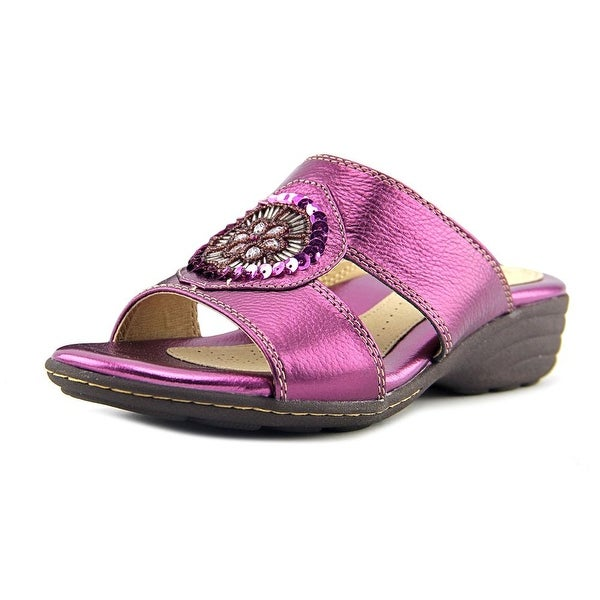 Softspots Kory Women W Open Toe Leather Purple Sandals