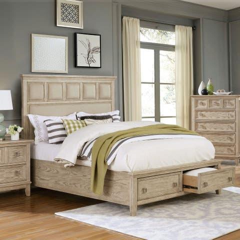 Furniture of America Flek Transitional Natural Tone Platform Bed