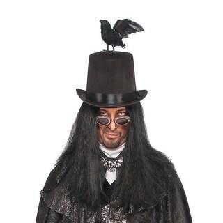 Adult Raven Halloween Top Hat - one-size: regular