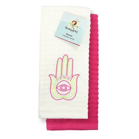 Sloppy Chef Embroidered Cotton Kitchen Towels (16 x 26 in., 2-Pack) - 16 x 26 in.