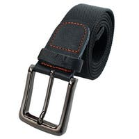 Unisex Outdoor Casual Nylon Adjustable Canvas Web Waist Belt Black