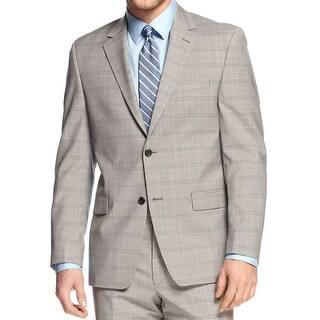 Shaquille O'Neal Mens Big & Tall Two-Button Blazer Wool Plaid (Option: 40s) https://ak1.ostkcdn.com/images/products/is/images/direct/a89f18b5aa1d96c47d42d45d7b154965c8b93991/Shaquille-O%27Neal-Mens-Big-%26-Tall-Two-Button-Blazer-Wool-Plaid.jpg?impolicy=medium