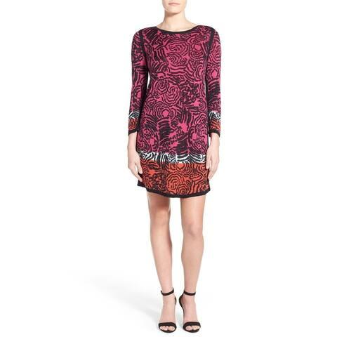 Nic + Zoe Pink Womens Size Large L Swirl Pattern Tunic Dress